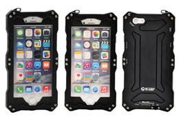 Wholesale Original Waterproof Iphone Case - 50m waterproof For iphone Original R-Just Outdoor Love Diving Aluminum Covers Metal Case For iphone 6 4.7 inch Mei Gorilla glass