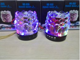 Wholesale Hight Sound - New Colorful Portable mini bluetooth Speaker Crystal Lotus stereo sound Dancing speaker With colorful entertaining diversions hight quality