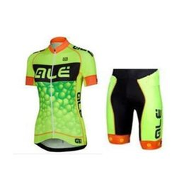 Wholesale Ale Cycling Jerseys - factory ALE Women Cycling Jerseys Short Sleeve Bicycle Clothing With Bib None Bib Set 4 Colors ALE Outdoor Cycling Jersey set Freeshipping