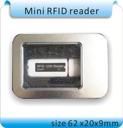 Wholesale Ipad Mini Reader - Free shipping Newset Mini USB 125KHZ RFID Reader for iPad Android Mac Windows Linux 10bit output +10pcs cards