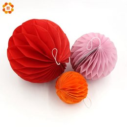 Wholesale Purple Paper Lanterns - 1pcs lot8inch20cm Tissue Paper Lantern Honeycomb Balls for Home Wedding Party Decoration Event & Party Supplies