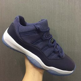 Wholesale High Ocean - Wholesale New Air Retro 11 XI Low GS Blue Moon Women Basketball Shoes men sports Designer sneakers high quality size 36-47