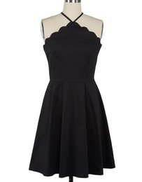 En Stock Vestido Halter Little Black Dresses Minuto Falda A-Line Backless Sexy 2018 Vestidos de noche Vintage Evening Gown desde fabricantes
