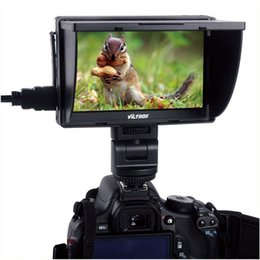 Wholesale Dslr Viewfinders - Viltrox Portable DC-50 HD Clip-on LCD 5inch Monitor Wide View HDMI Cable with Carrying Bag for Canon Nikon Sony DSLR Camera DV