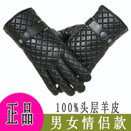 Wholesale couple gloves - Wholesale-Men's ladies full palm touch screen gloves winter warmth couple gloves driver gloves