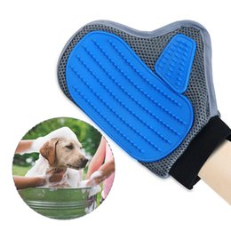 Wholesale Horse Massages - Pet Grooming Glove, Pet Deshedding Brush Massage Tool Glove with Dual Sided Rubber and Steel Needle Palm for Dogs Cats Horses