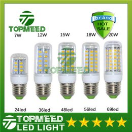 Wholesale E14 Lead - SMD5730 E27 GU10 B22 E14 G9 LED lamp 7W 12W 15W 18W 20W 220V 110V 360 angle SMD LED Bulb Led Corn light