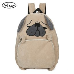 Wholesale Japanese Cartoon Backpack - 2016 Japanese cute cartoon animals backpack school bags for girls larger capacity corduroy backpack high school students bag