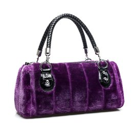 Wholesale Hand Warmer Pillow - 2015 new winter fur imitation rabbit fur handbag villi leisure super soft warm female fancy warm cute lovely women's hand bag 1128