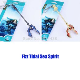 2019 lega lega metallo All'ingrosso-15CM Fizz Tidal Sea Spirit Weapon League Of Legends Gioco LOL metallo ciondolo portachiavi portachiavi sconti lega lega metallo