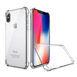 Wholesale Water Silicone - Soft TPU Silicone Clear Cases For IPhone X 8 7Plus 6S Anti Shock For Galaxy Note 8 S9 S8 S7 EdgeMoto LG