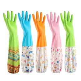 Wholesale velvet design - Durable Thickening Gloves Beam Mouth Design Plus Velvet Waterproof Glove Non Slip Decontamination Clean Tools Top Quality 4 4sy B