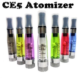 Wholesale Ego Wickless Cartomizer - Free shipping 1.6ml ego ce5 liquid electronic cigarette atomizers ce5 ego clearomizer wickless round drip tips tank cartomizer for battery