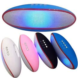 haut-parleurs bluetooth rouges Promotion Enceintes LED A52 Bluetooth Main libre Radio FM Mini haut-parleurs extérieurs sans fil Noir Blanc Rouge Bleu DHL Gratuit MIS099