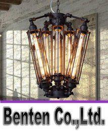Wholesale Large Bulb Pendant Light - 110V - 240V AC Big 8pcs E27 T30 Edison bulbs lights Chandeliers Art Deco Abajur lights Black Modern Large Creative lustre lamps LLFA1051