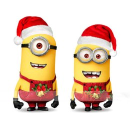 Wholesale Despicable Costumes - Fast Ship Merry christmas mascot Despicable me 2 minion costumes adult cartoon character costumes xmas party dress real picture ZJ1295
