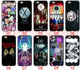 Wholesale S4 Band - Exo Kpop band For iPhone 6 6S 7 Plus SE 5 5S 5C 4S iPod Touch 5 For Samsung Galaxy S6 Edge S5 S4 S3 mini Note 5 4 3 phone cases
