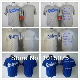 Wholesale 2016 New Los Angeles Dodgers Custom Blank Jersey White Grey Blue Can Personalized ANY Name Number