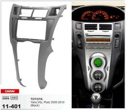 CARAV 11-401 CARRO Fascia de radio para TOYOTA Yaris, Vitz, Platz 2005-2010 (Negro) Panel estéreo Facia Plate Dash Trim Kit desde fabricantes