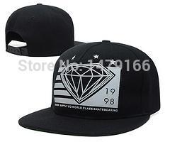 Wholesale diamond supply cheap - Wholesale-2015 bone Diamond snapback hat cheap baseball cap hip hop diamond supply co men summer outdoor caps hats 20 color