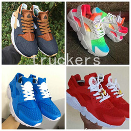 Wholesale Canvas Custom - 2017 Huarache ID Custom Breathe Running Shoes For Men Women Hurache Mens navy blue tan Air Huaraches Multicolor Huraches Harache Sneakers