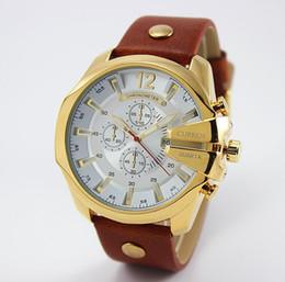 Wholesale Curren Leather - Wholesale-2015 New CURREN Watches 8176 Luxury Brand fashion Leather Strap Watch Men Quartz Waterproof calendar analog sports Watches