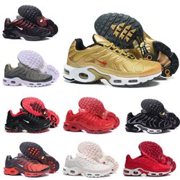 Wholesale Max Tn Shoes - 2017 Mens Max TN Running Shoes high quality Gold Black White blue red blue green Max Tn Runner Sneaker sport shoes us 8-12