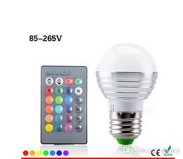 Super lumineux E27 RVB a mené la lampe d'ampoule AC110V 220V 5W 16Colors changeant l'éclairage pour la décoration d'art de vacances de BARRE de KTV avec la télécommande d'IR ? partir de fabricateur