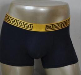 Wholesale Wholesale Designer Underwear - 2018 Sports fashion, men's underwear, underwear, shorts, cotton brand designer, cuecas boxing, gold belt, people, good quality underwear