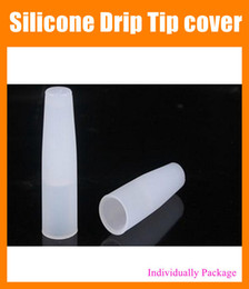 Wholesale Evod Test Tips - Silicone Drip Tip Mouthpiece Cover Test Drip Tips for smokers Testing CE4 CE5 CE6 EVOD DCT EGO 510 Atomizer Individually Packing FJ079