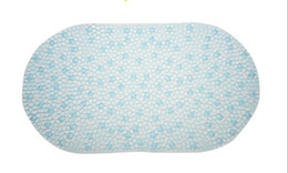Wholesale Bathroom Pads - 2016 New round cell PVC bath mats size 39*69cm antislip massage mats colorful bathroom pierced safe pad with suction cups FHD10