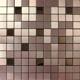 Wholesale Deco Mesh Wholesale - Aluminium mosaic tiles square wall cladding tiles wall mounted mesh home decoration art deco mosaico wall tiles backsplash tile for back