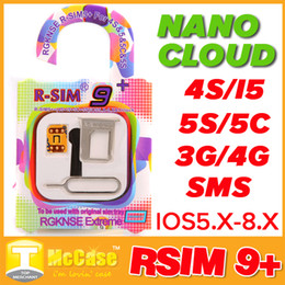 Wholesale Iphone Ios Verizon - Original RSim R SIM R-SIM Nano Cloud 9 + 9+ Plus Unlock Card For IOS 5.x 6.x 7.x 8.x AUTO Unlock Iphone 4S 5 5S 5C AU Verizon T-MOBILE