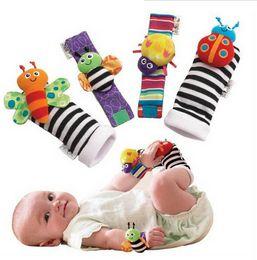 Wholesale Sock Lamaze - Baby socks Baby Rattle Socks sozzy Wrist rattle & foot finder Baby toys Lamaze Wrist Rattle+Foot baby Socks D64 20lots