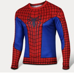 Wholesale Spiderman Sweatshirt - w1213 2015 new 3D print pullovers sweatshirt marvel super heroes Avenger Captain America Batman Spiderman sportswear mens casual tops