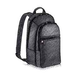 Wholesale Top Fashion Backpack Brands - large capacity Brand travel backpack M58024 top quality fashion classic male lu*s brand real genuine leather mens backpack shoulder bag