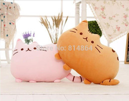 Wholesale Toy Big Zippers - 2015 new Cat pillow skin with Zipper without PP cotton biscuits cat big cushion pusheen sleeping pillow