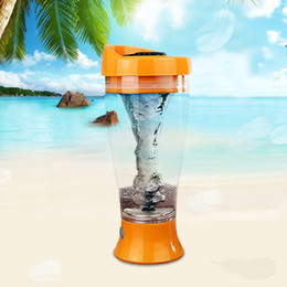 Wholesale Protein Powder Shaker - New Drinkware Leakproof Lid Handy Cup Electric Shaker Bottle Nutrition Protein Powder Shakes Blender Transparent Water Bottle