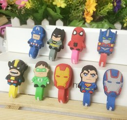Wholesale Winder Reels - 2017 Cartoon animal shape winder cable bobbin winder hone holder Silicon rubber button reel 50PCS RXQ7