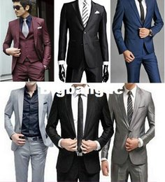 Wholesale Men S Business Pants - 1225 New 2015 High Quality Fashion Men Suit Brand! Men's Blazer Business Slim Man Clothing Suit And Pants Top Selling terno masculino
