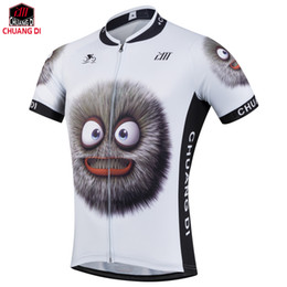 Wholesale Men Spandex Models - Hot selling 2018 summer men thin cartoon succinct model wicking Cycling jersey customized cycling clothing
