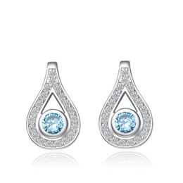 Wholesale Cheap White Sapphire Rings - Star Harvest 925 Sterling Silver Jewelry Earrings The teardrop-shaped for girl silver rings for women cheap That Has Grade Earrings