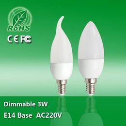 Wholesale Cheap Led Candles Wholesale - LED Candle Bulbs CREE 3W E14 B22 E27 AC85-265V Warm Cool White High Brightness SMD LED Candle Light Lamp Cheap High Quality for Home Light