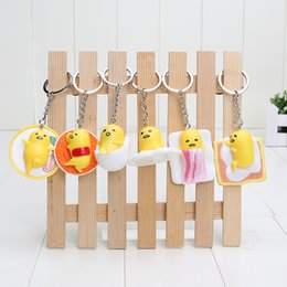 Wholesale Keychain Kawaii - Anime Gudetama PVC toy Cut Adora Doll Yellow Lazy Kawaii keychain Action figure 5cm Free shipping