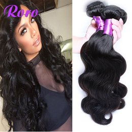 Wholesale Affordable Peruvian Body Wave Hair - Affordable 100% Virgin Human Hair Extensions Brazilian Body Wave Hair Weave Malaysian Indian Remy Cambodian hair Weft 4 Bundles lot