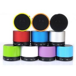 Wholesale Metal Music Notes Wholesale - S10 Bluetooth Speaker Outdoor Handfree Mic Stereo Portable Loud Speakers TF Card Call for iPhone 6 Plus Samsung S6 Note 4 Mp3 Music Player