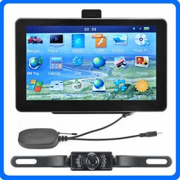 Wholesale Ir Systems - 7 inch Bluetooth Car GPS Navigation AVIN for Wireless IR Reverse Camera Truck GPS Navigator System Preloaded POI 8GB Newest IGO Primo Maps