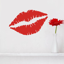 sexy decals wall art Coupons - New Anime Large Red Lip Marilyn Monroe Sexy Lip Vinyl Lettering Art Decal Poster Removable Wall Sticker Home Decor Decal Muscial