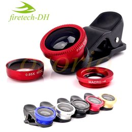 Wholesale Len Clip Eye - Hot Sale 3 In 1 Universal Camera Mobile Phone Lens Clip Fish Eye + Macro + Wide Angle Len For iPhone 7 Samsung Galaxy S8 with retail package
