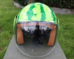 Argentina Al por mayor-precio al por mayor 3/4 cara abierta Casco de la motocicleta casco de sandía de color verde Tamaño: M, L, XL, XXL Suministro